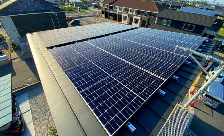 岐阜県H市K邸 太陽光発電システム設置工事